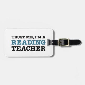Trust Me, I'm A Reading Teacher Bag Tag