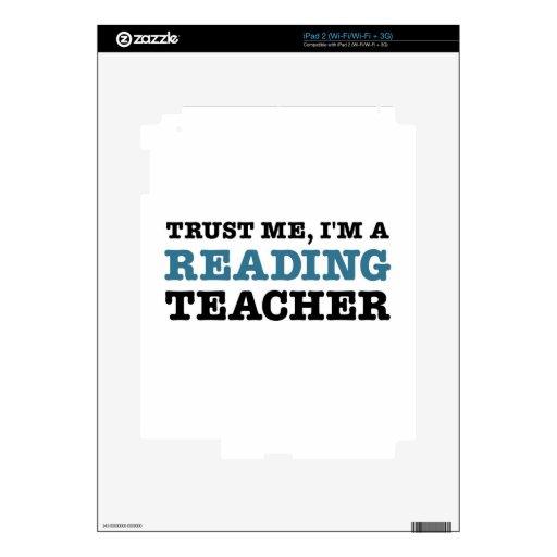 Trust Me, I'm A Reading Teacher Skin For The iPad 2