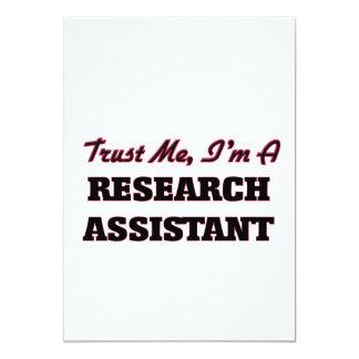Trust me I'm a Research Assistant 5x7 Paper Invitation Card