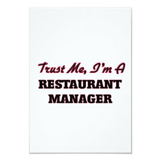 Trust me I'm a Restaurant Manager Invitation