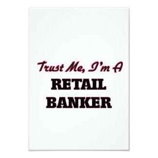 Trust me I'm a Retail Banker 3.5x5 Paper Invitation Card