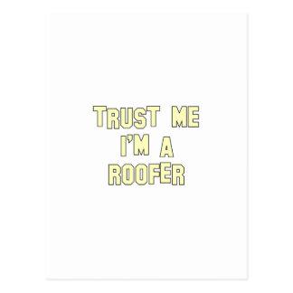 Trust Me I'm a Roofer Postcard