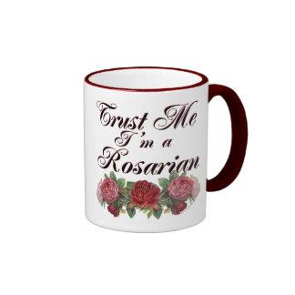 Trust Me I'm A Rosarian Gardener Saying Ringer Mug