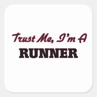 Trust me I'm a Runner Stickers