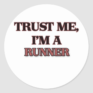 Trust Me I'm A RUNNER Round Stickers