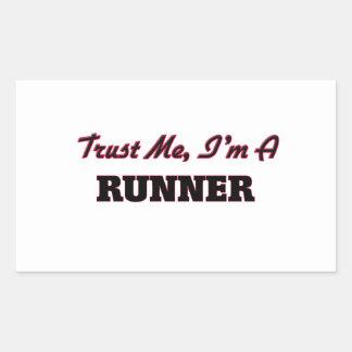 Trust me I'm a Runner Rectangle Sticker