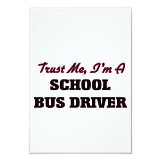 "Trust me I'm a School Bus Driver 3.5"" X 5"" Invitation Card"