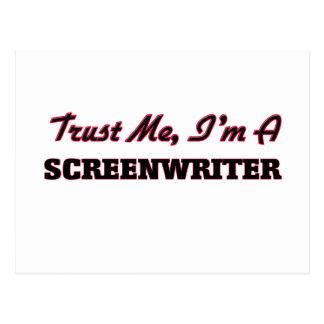 Trust me I'm a Screenwriter Postcard