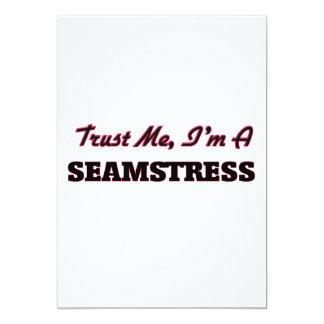 Trust me I'm a Seamstress 5x7 Paper Invitation Card