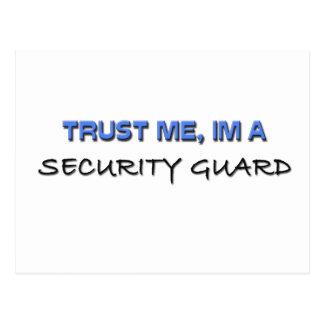 Trust Me I'm a Security Guard Postcard