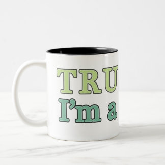 Trust Me, I'm a Skeptic. Two-Tone Coffee Mug