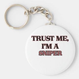 Trust Me I'm A SNIPER Basic Round Button Keychain