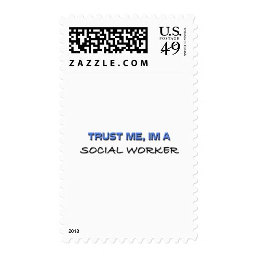 Trust Me I'm a Social Worker Postage