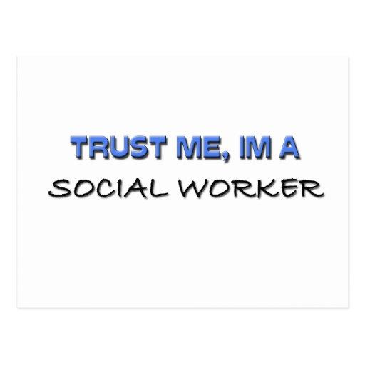 Trust Me I'm a Social Worker Postcard