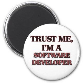Trust Me I'm A SOFTWARE DEVELOPER 2 Inch Round Magnet