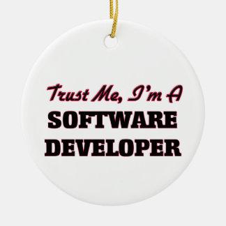Trust me I'm a Software Developer Christmas Ornament