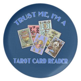 Trust Me I'm a Tarot Card Reader Melamine Plate