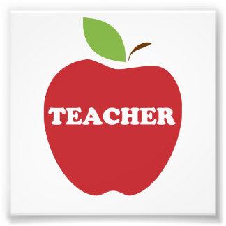 Trust Me, I'm a Teacher Red Apple Photo Print
