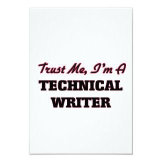 "Trust me I'm a Technical Writer 3.5"" X 5"" Invitation Card"
