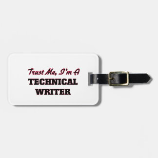 Trust me I'm a Technical Writer Tags For Luggage