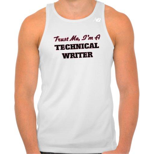 Trust me I'm a Technical Writer Tshirt Tank Tops, Tanktops Shirts