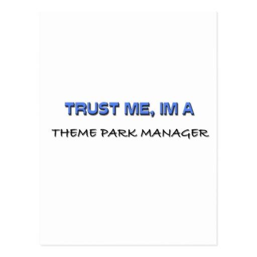 Trust Me I'm a Theme Park Manager Postcard