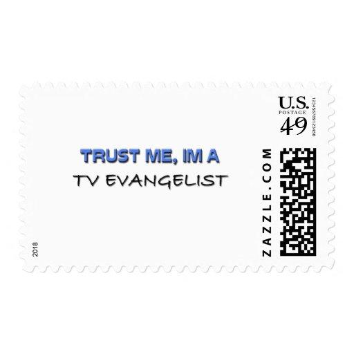 Trust Me I'm a Tv Evangelist Postage Stamps