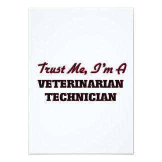 Trust me I'm a Veterinarian Technician 5x7 Paper Invitation Card