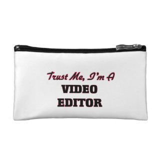 Trust me I'm a Video Editor Cosmetic Bags