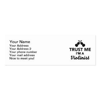 Trust me I'm a Violinist Mini Business Card