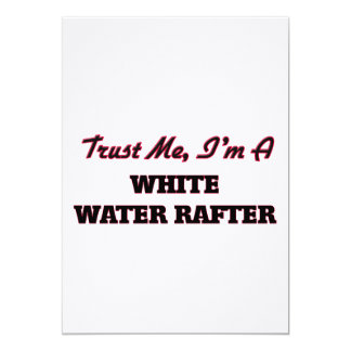 Trust me I'm a White Water Rafter Personalized Announcement