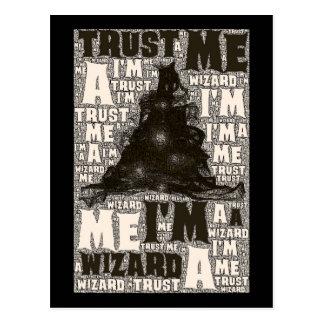 Trust me I'm a wizard - postcard