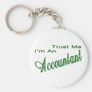 Trust Me I'm An Accountant Basic Round Button Keychain
