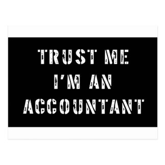 Trust Me I'm An Accountant Postcard