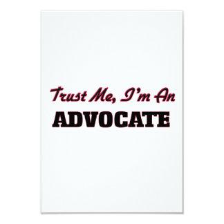 Trust me I'm an Advocate 3.5x5 Paper Invitation Card