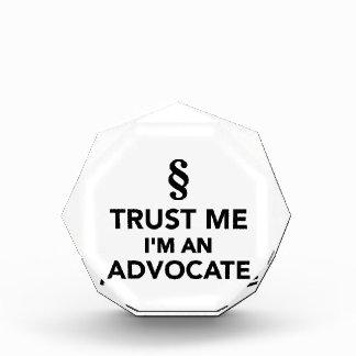 Trust me I'm an advocate Acrylic Award