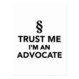 Trust me I'm an advocate Postcard