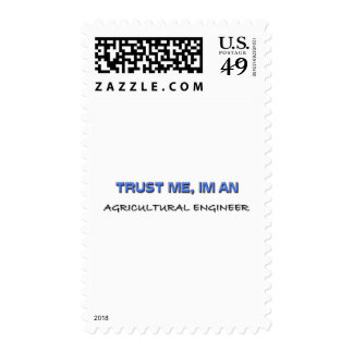 Trust Me I'm an Agricultural Engineer Postage Stamp