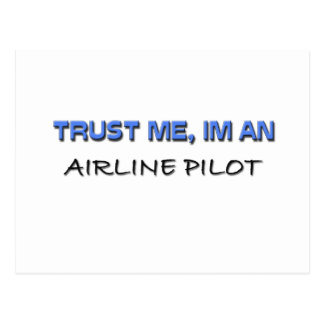 Trust Me I'm an Airline Pilot Post Cards
