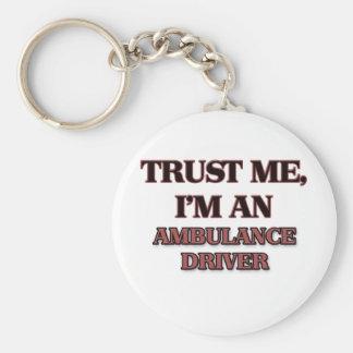 Trust Me I'm an Ambulance Driver Basic Round Button Keychain