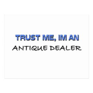 Trust Me I'm an Antique Dealer Postcard