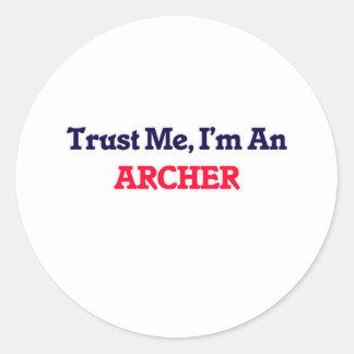 Trust me, I'm an Archer Classic Round Sticker