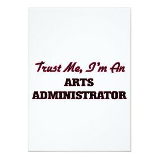 Trust me I'm an Arts Administrator 5x7 Paper Invitation Card