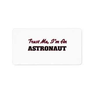 Trust me I'm an Astronaut Custom Address Labels