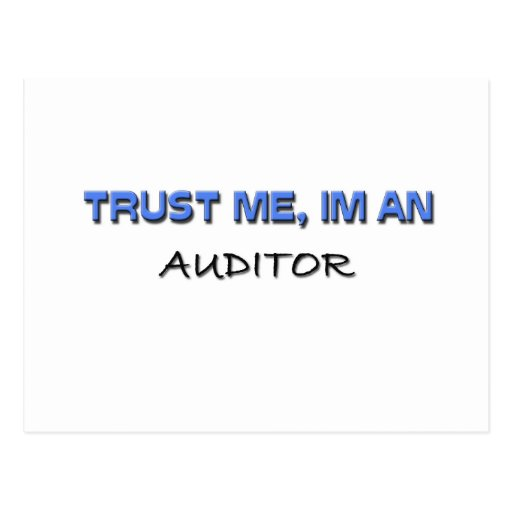 Trust Me I'm an Auditor Postcard