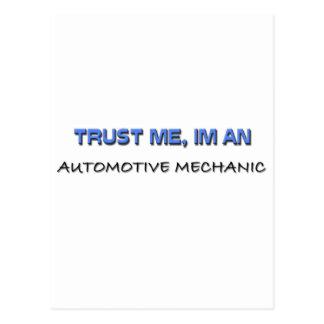 Trust Me I'm an Automotive Mechanic Postcard