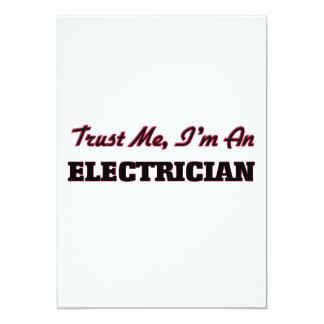 Trust me I'm an Electrician 5x7 Paper Invitation Card