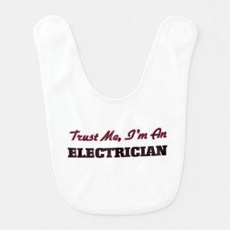Trust me I'm an Electrician Baby Bibs