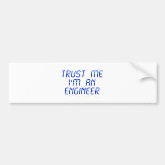 trust-me-Im-an-engineer-LCD-BLUE.png Bumper Sticker
