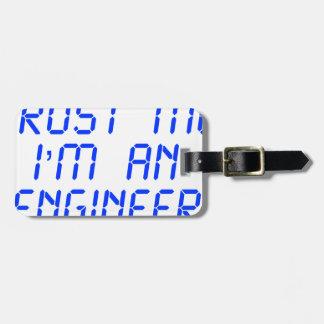 trust-me-Im-an-engineer-LCD-BLUE png Etiquetas Bolsa